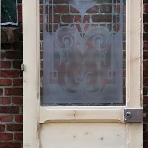 paneeldeur met geetst glas