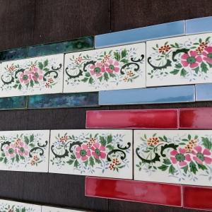 Antieke wandtegels, art nouveau wandtegels, art deco wandtegels, antieke muurtegels, jaren dertig tegels, witjes