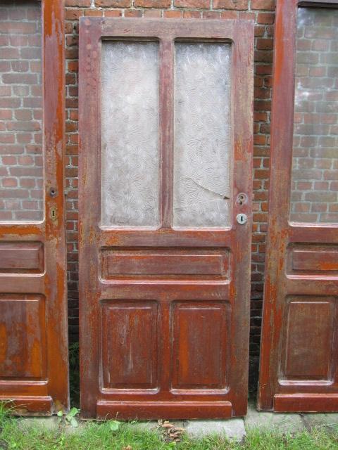 lage paneeldeur met glas