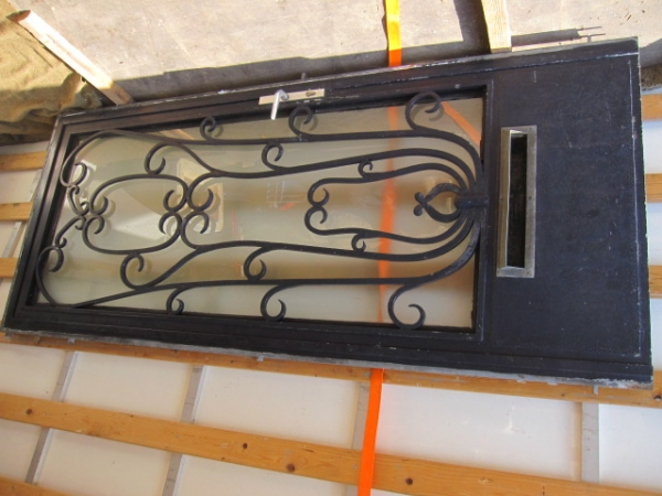 antieke ijzeren voordeur, jugendstil voordeur staal