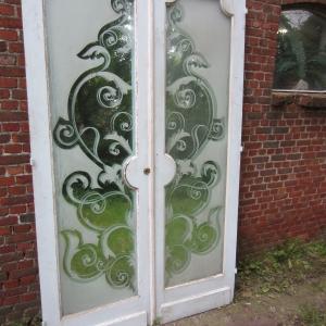 dubbele deuren met spiegel