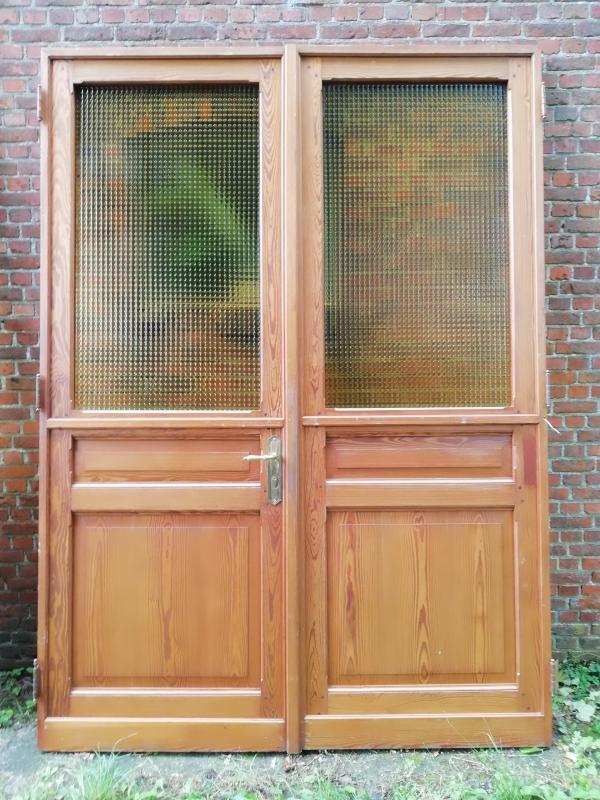 Dubbele deuren met glas