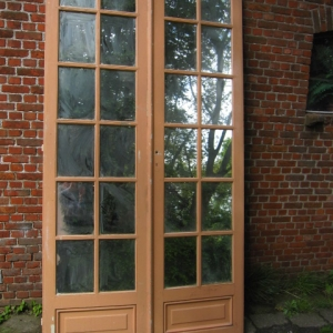 hoge dubbele deuren met spiegelglas eiken