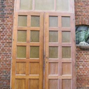 dubbele eiken deuren met bovenlicht