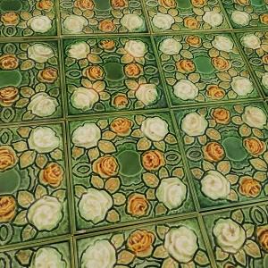 antieke wandtegels opgelegde afbeelding
