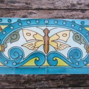 Antieke wandtegels, art nouveau wandtegels, art deco wandtegels, antieke muurtegels