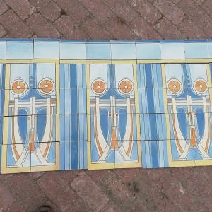 maison helman, art deco tegels, antieke wandtegels, antieke bouwmaterialen