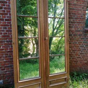 Oude liftdeuren uit historisch hotel, eiken deuren hufterproof, antieke eiken deuren, antieke bouwmaterialen
