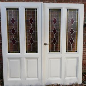 glas in lood dubbele deur